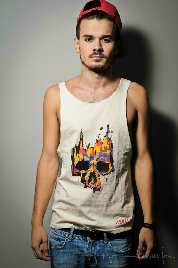 Cool hand-painted T-shirts by Troix Tone - Interview with Adrian Simion