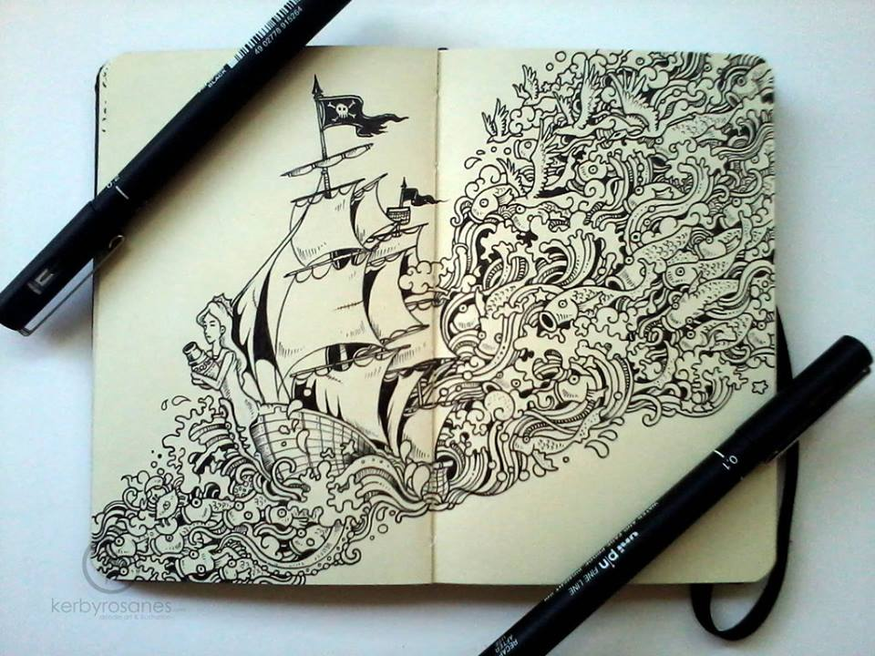 Inspirational Drawing Ideas: Interview With Doodle Artist Kerby Rosanes