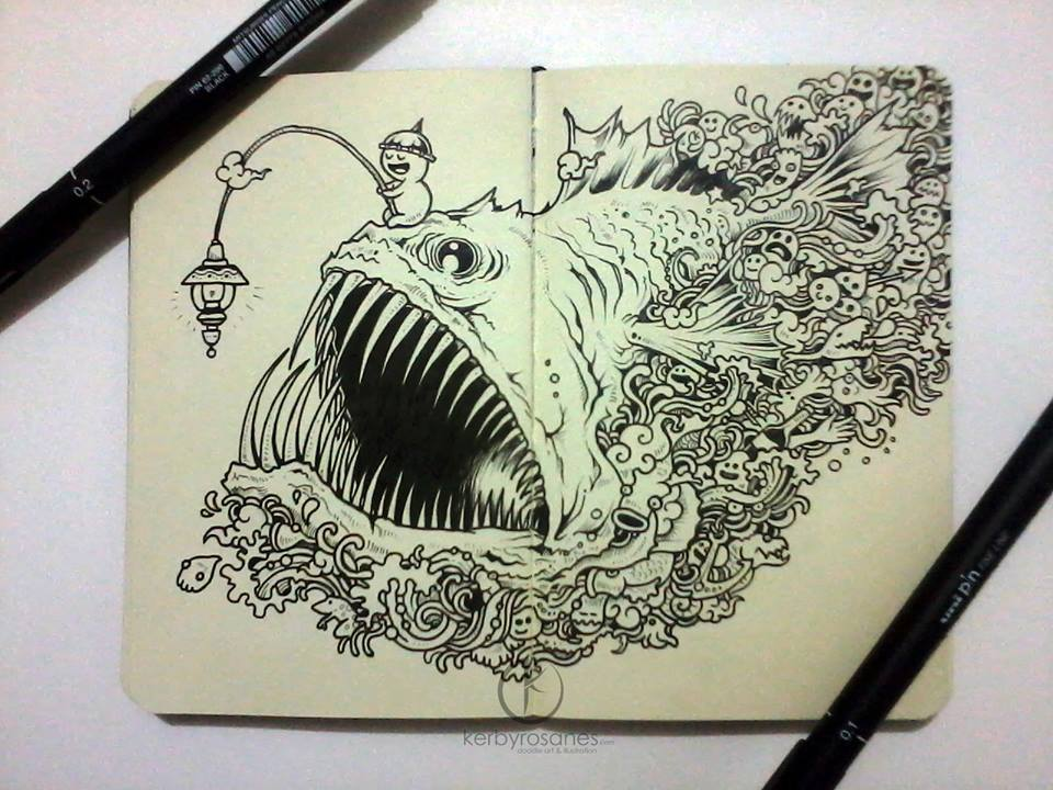 Interview With Doodle Artist Kerby Rosanes Friday Illustrated