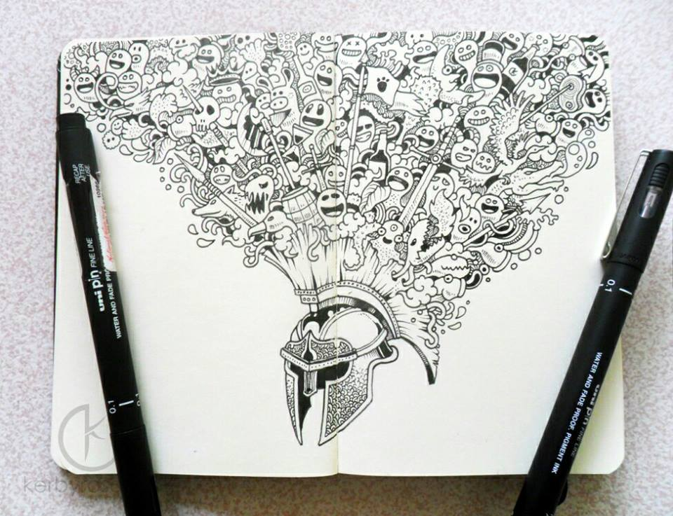 Easy Doodle Art Designs : Interview with doodle artist kerby rosanes friday illustrated