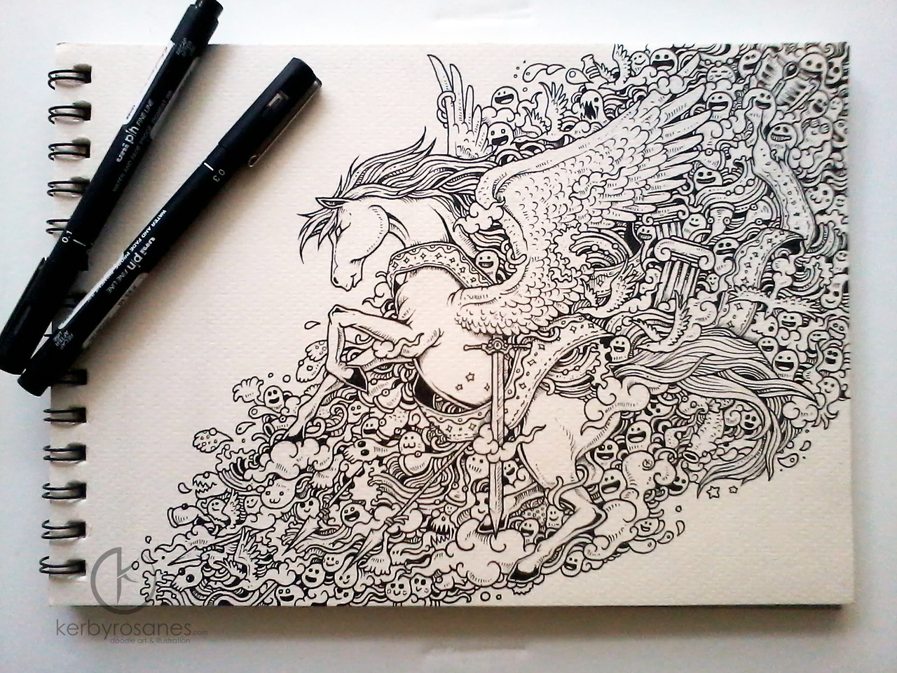 Interview with doodle artist kerby rosanes friday for Kerby rosanes