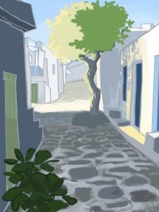 Greece illustration by Katerina Pantela