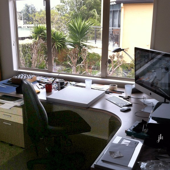 Illustrator Jeremy Kyle's workstation