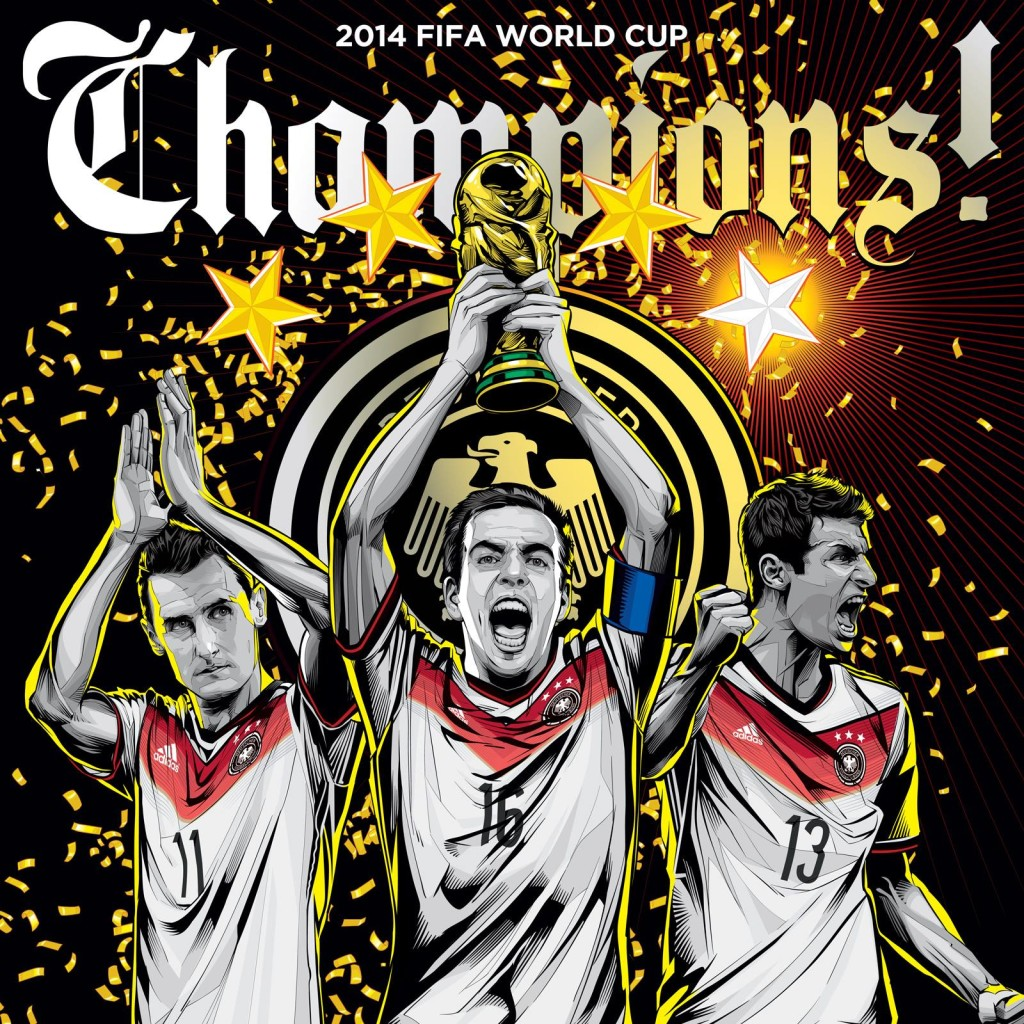 Germany wins - Cristiano Siqueira 2014 World Cup illustrations