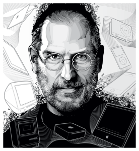 Steve Jobs Interview with vector illustrator Cristiano Siqueira