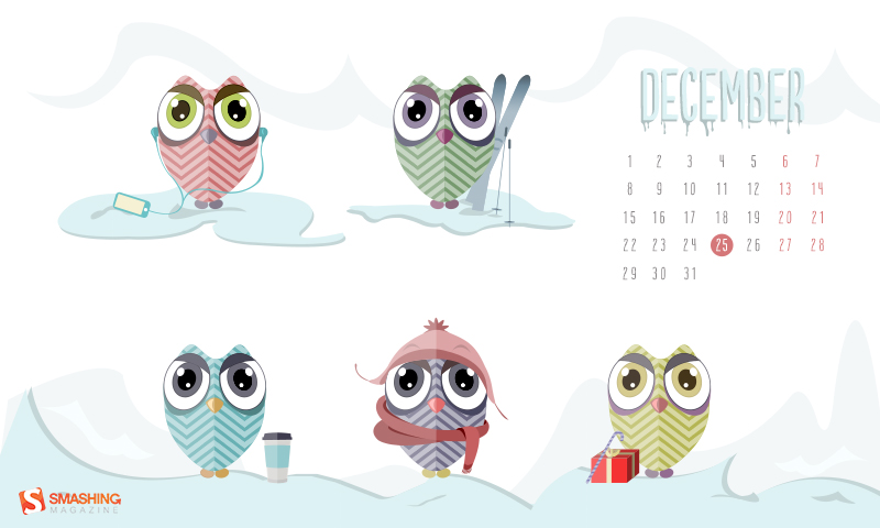 Miruna Sfia desktop wallpaper calendar featured in Smashing Magazine