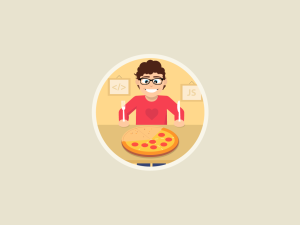 Featured project- Icon a Day with Marko Stupic pizza