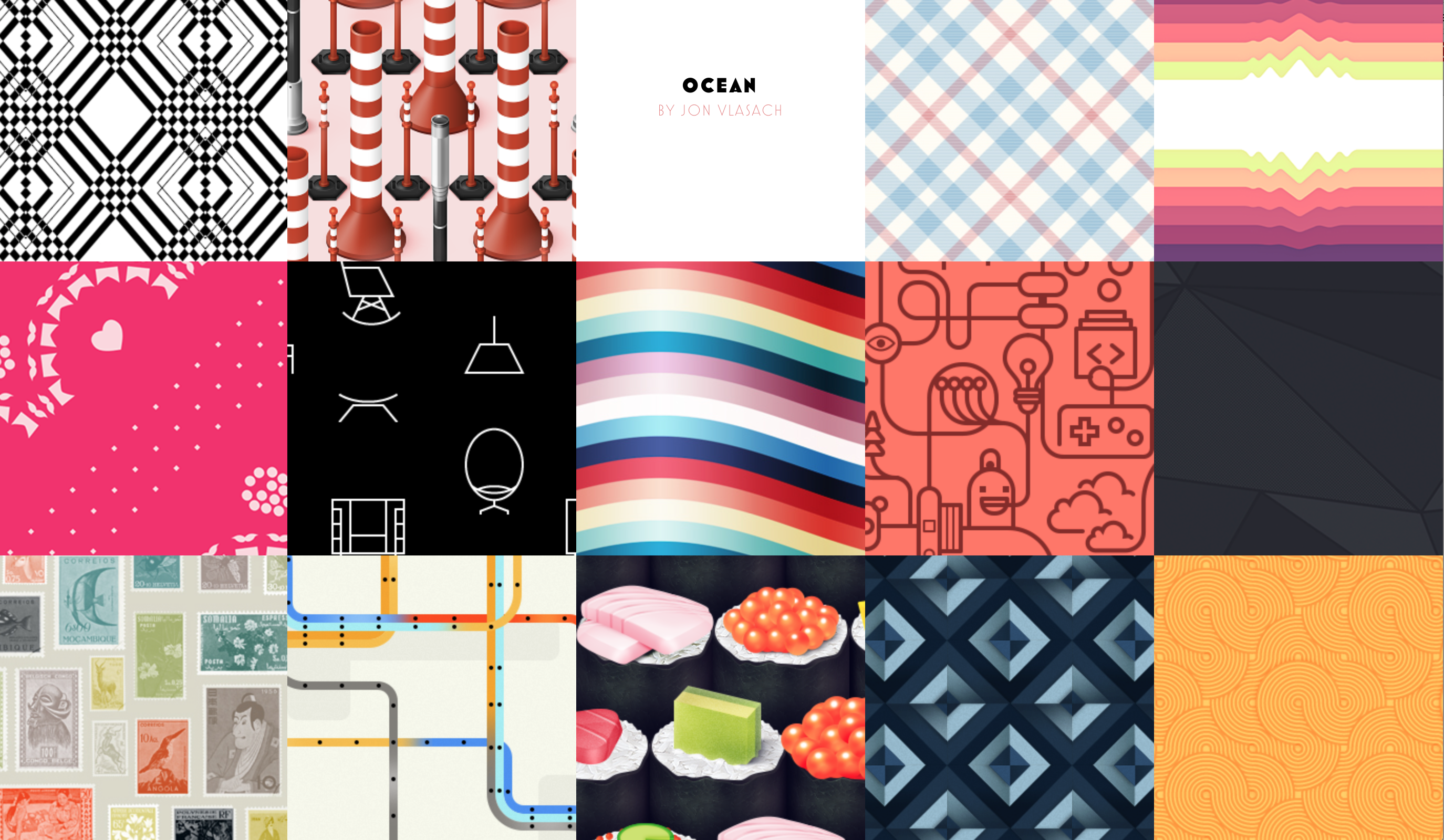 The Pattern Library - Cool pattern designs free to use ...