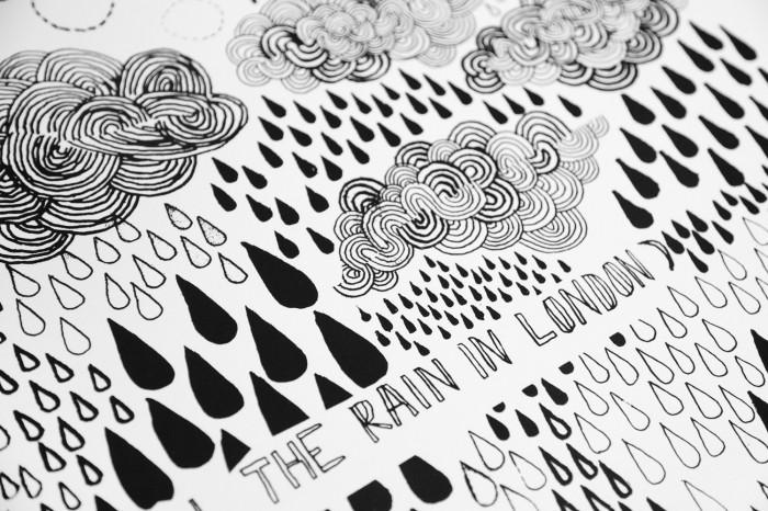 James Gulliver Hancock illustration rain pattern